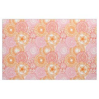 Retro Hip Fun Happy Summer Floral Pattern Fabric