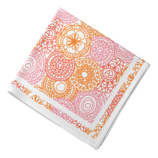 Retro Hip Fun Happy Summer Floral Pattern Kerchief