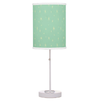 Retro Hip Space Age Atomic Starburst Vista Blue Table Lamp