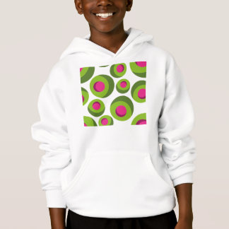 Retro hippie pattern with colored dots