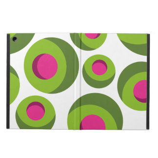 Retro hippie pattern with colored dots case for iPad air