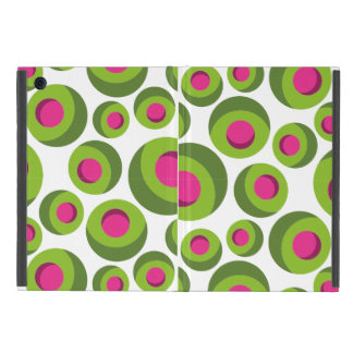 Retro hippie pattern with colored dots case for iPad mini