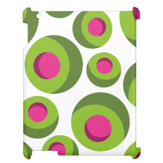 Retro hippie pattern with colored dots case for the iPad