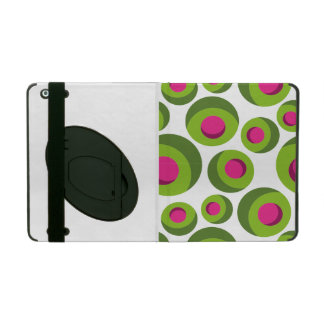 Retro hippie pattern with colored dots cover for iPad