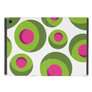 Retro hippie pattern with colored dots iPad mini case