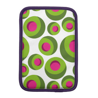 Retro hippie pattern with colored dots iPad mini sleeves