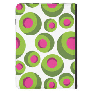 Retro hippie pattern with colored dots kindle 4 cover