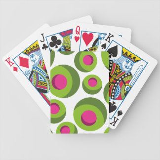 Retro hippie pattern with colored dots poker deck