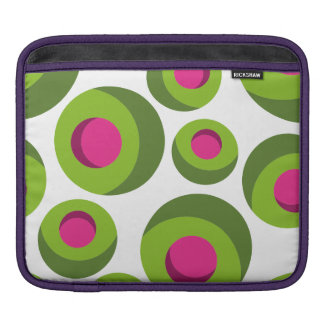 Retro hippie pattern with colored dots sleeves for iPads