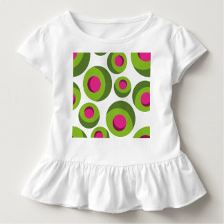 Retro hippie pattern with colored dots toddler t-shirt
