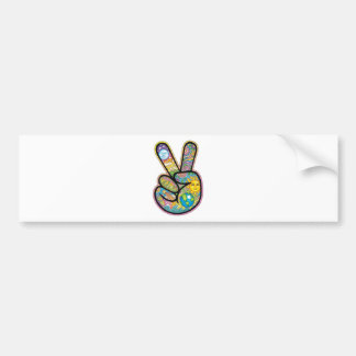 Retro Hippie Peace Bumper Sticker