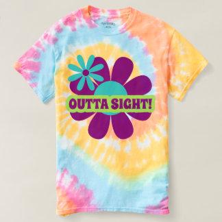 Retro Hippie word art flower tie dyed t-shirt