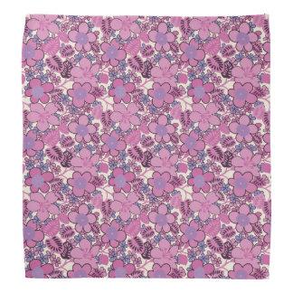 Retro Hippy Style Flower Pattern Bandanna