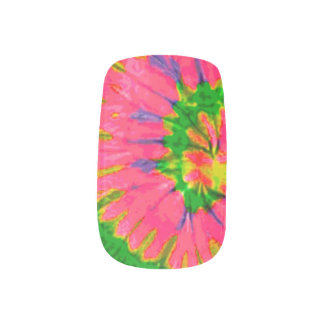 Retro Hippy Tie Dye Minx Nail Art