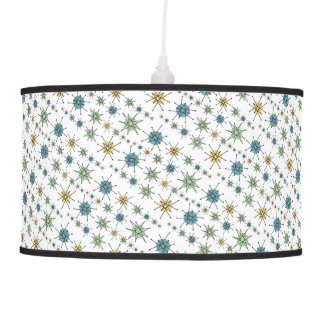 Retro Hipster Geometric Atomic Starburst Pendant Lamp