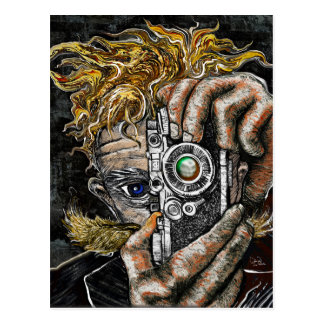 Retro Hipster Selfie Postcard