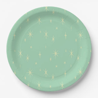 Retro Hipster Space Age Atomic Starburst Paper Plate