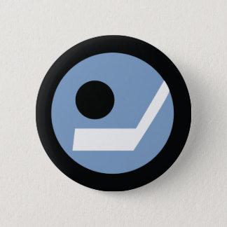 Retro Hockey Badge 2 Inch Round Button