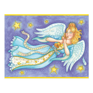 Retro Holiday Angel Postcard