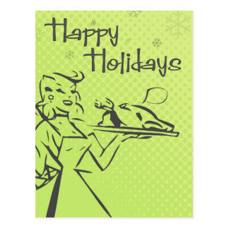 Retro Holiday Card - Lime