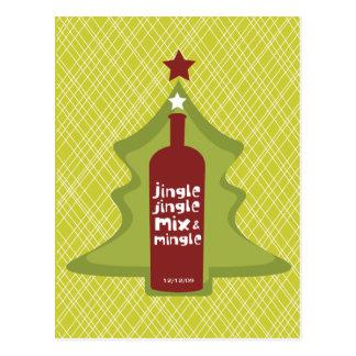 Retro Holiday Cocktail Invitation Postcard