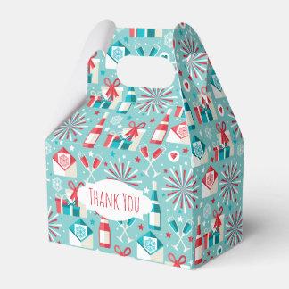 Retro Holiday Style Gable Favor Box