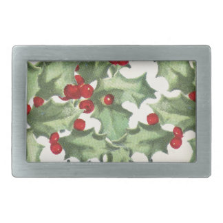 Retro Holly Belt Buckle