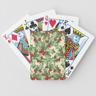 Retro Holly Poker Deck