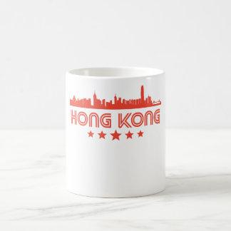 Retro Hong Kong Skyline Coffee Mug