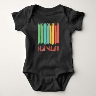 Retro Honolulu Hawaii Skyline Baby Bodysuit