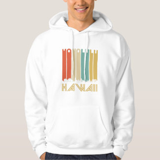 Retro Honolulu Hawaii Skyline Hoodie