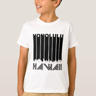 Retro Honolulu Hawaii Skyline T-Shirt