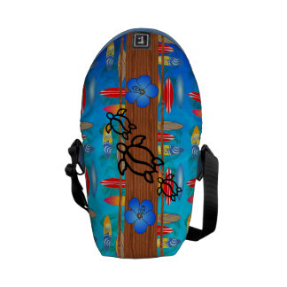 Retro Honu Surfboard Courier Bag