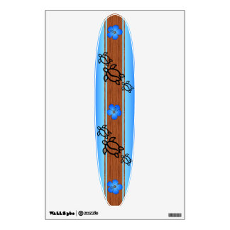 Retro Honu Surfboard Wall Sticker