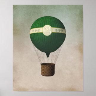 Retro Hot Air Balloon Poster