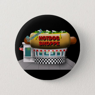 Retro Hot Dog Shoppe 2 Inch Round Button