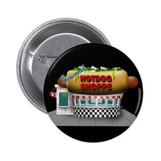 Retro Hot Dog Shoppe 2 Inch Round Button