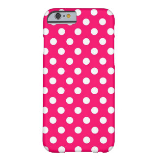 Retro Hot Pink Polka Dots iPhone 6 case Barely There iPhone 6 Case
