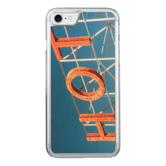 Retro hotel sign carved iPhone 8/7 case
