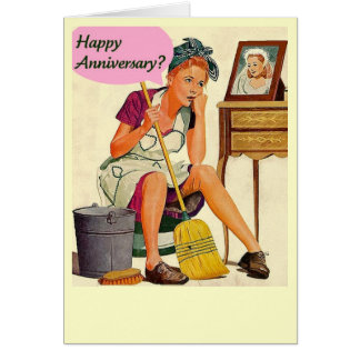 Retro Housewife Happy Anniversary Card