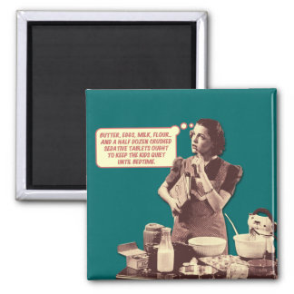 Retro Housewife Magnet - Sleepytime Cake Recipe