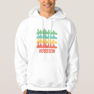 Retro Houston TX Skyline Pop Art Hoodie
