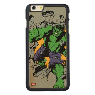 Retro Hulk Smash! Carved Maple iPhone 6 Plus Case
