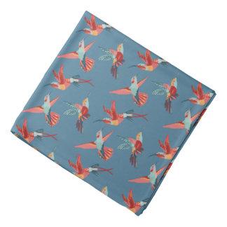 Retro Hummingbird Pattern Bandana