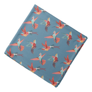 Retro Hummingbird Pattern Bandanna