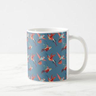 Retro Hummingbird Pattern Coffee Mug