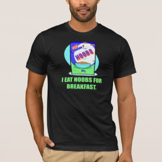 Retro I Eat Noobs for Breakfast T-shirts