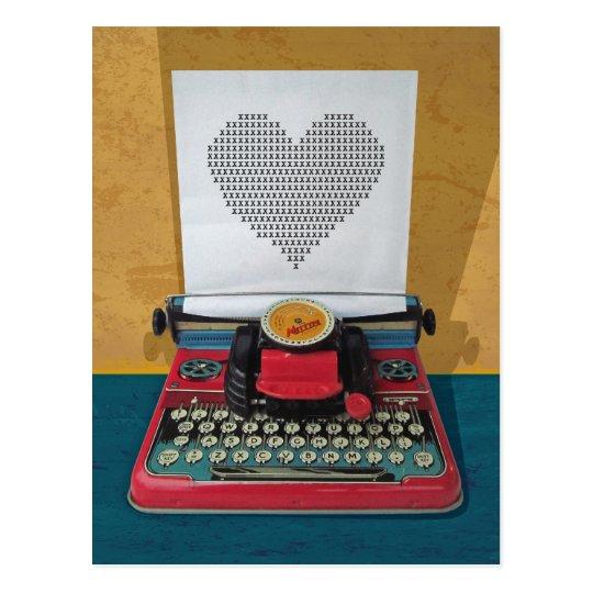 Retro I.T. 50s Vintage Toy Typewriter Postcard