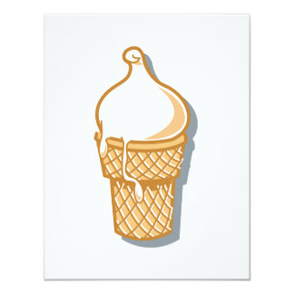 retro ice cream cone invitations