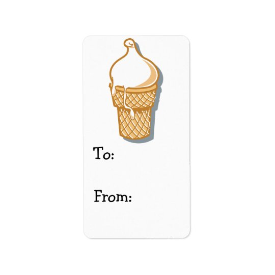 retro ice cream cone label